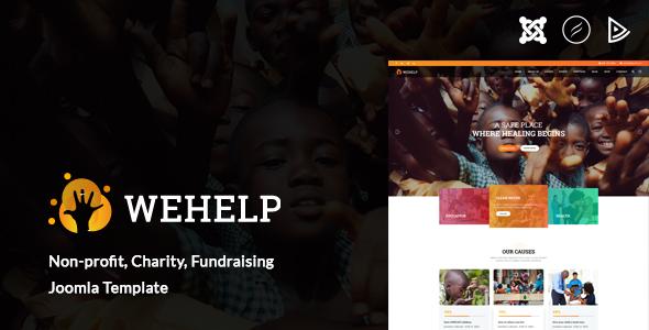 WeHelp - Charity, Non-profit, fundraising Joomla Template        TFx Collin Kaleb