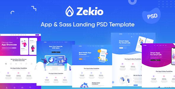 Zekio - App & Sass Landing PSD Template        TFx Cal Eliott