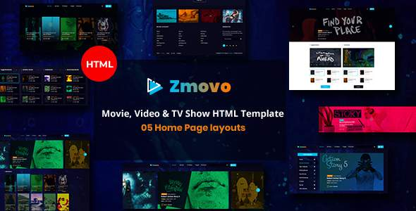 Zmovo – Online Movie Video And TV Show HTML Bootstrap 4 Template        TFx Kimball Ridley