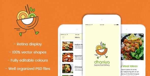 dhaniya - Mobile App PSD        TFx Isidore Peers