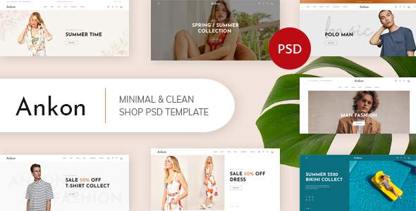 Ankon – Clean, Minimal Shop PSD Template        TFx Ivor Jaxon