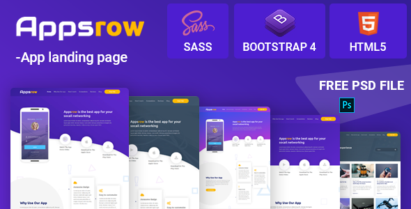 Appsrow App Landing HTML Template        TFx Cleo Dave