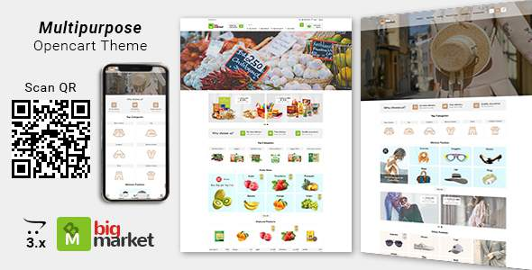 Bigmarket – Multipurpose Responsive  Fashion And Grocery Opencart 3.X Theme        TFx Corbin Masami
