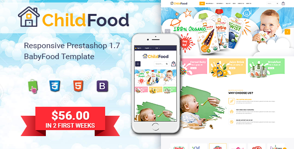 ChildFood - Adorable Baby Shop PrestaShop Theme        TFx Gayelord Isadore