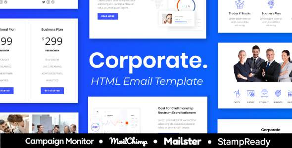 Corporate - Agency Multipurpose Responsive Email Template 60+ Modules + Mailster + Mailchimp        TFx Wallace Jase