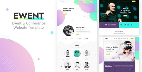 Ewent – Event & Conference Website Template        TFx Benjy Morgan