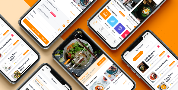 Fozzi - Food Delivery app UI Kit        TFx Laurence Drummond