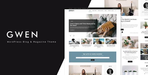 Gwen - Creative Personal WordPress Blog Theme        TFx Swithun Neil