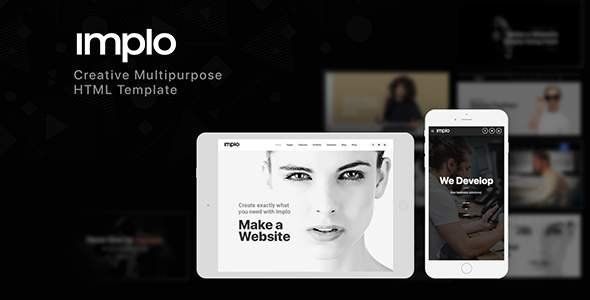 Implo - Responsive Multi-Purpose HTML5 Template        TFx Quincey Lucan