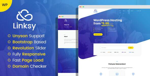 Linksy - domain and hosting provider WordPress theme        TFx Rowan Justice