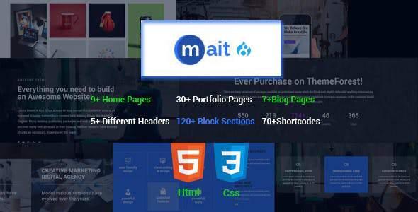 Mait | Responsive Bootstrap Drupal 8 Landing Page Theme        TFx Taufik Chandler