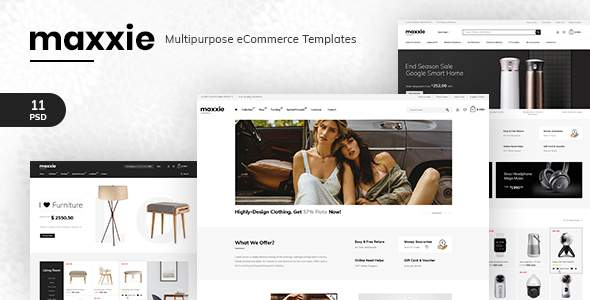 Maxxie - Multipurpose eCommerce PSD Template        TFx Mikey Hadyn