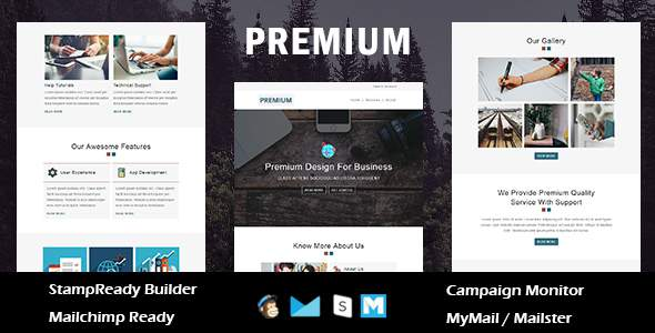 Premium - Multipurpose Responsive Email Template - Online StampReady Builder & Mailchimp Editor        TFx Thaddeus Jamey