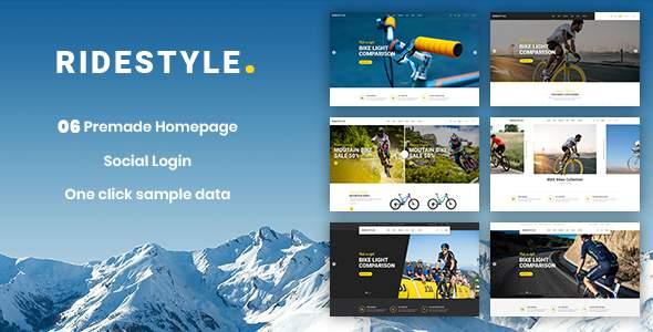 Ridestyle – Sport Responsive PrestaShop 1.7 Theme        TFx Hokolesqua Mo