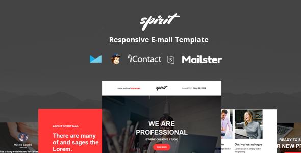 Spirit Mail - Responsive E-mail Template + Online Access        TFx Ivan Rupert