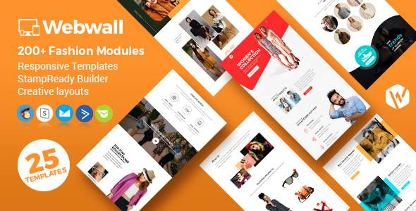 Webwall - Fashion Responsive Email Template + StampReady & CampaignMonitor compatible files        TFx Drew Russel