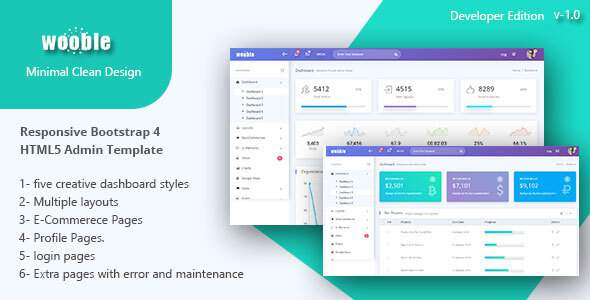 Wooble -  A Minimal eCommerce and Corporate Admin Template        TFx Hovik Edwin