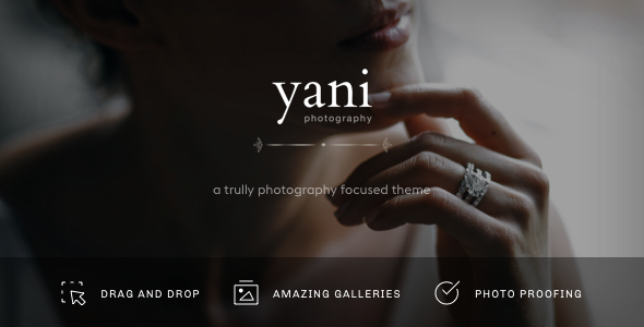 Yani - Clean and Minimalist Photography WordPress Theme        TFx Clem Francis