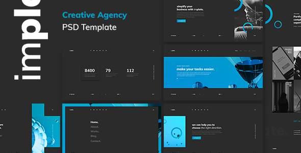 implate. — Creative Agency PSD Template        TFx Gabe Tecumseh