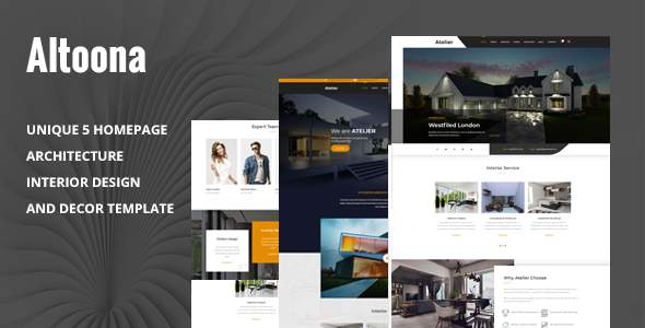 Altoona - Architecture & Interior Design HTML Template        TFx Stirling Nowell