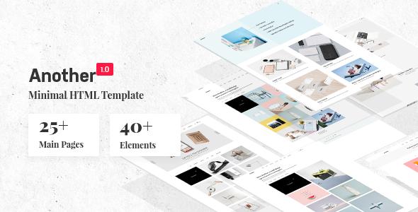Another - Creative Minimal Portfolio HTML Template        TFx Hayk Valerian
