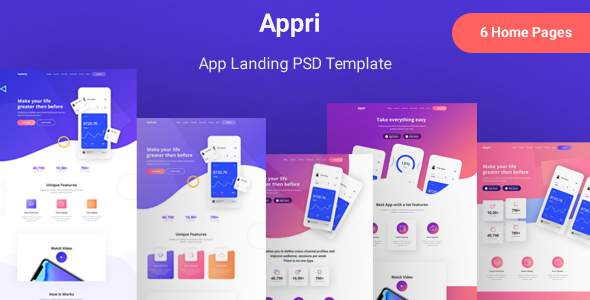 Appri - App Landing PSD Template        TFx Ryo Dusty