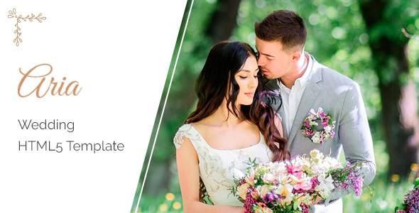 Aria - Wedding HTML5 Template        TFx Christopher Gordon