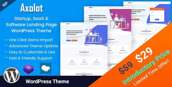 Axolot - Landing Page WordPress Theme        TFx Zackary Susumu