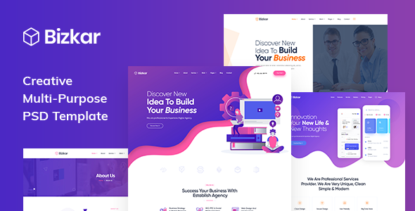 Bizkar - Creative Multi-Purpose PSD Template        TFx Rene Roddy