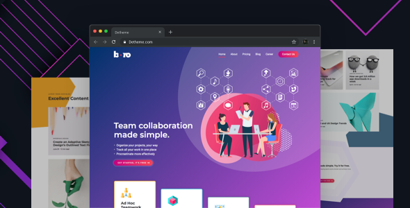 Boro –  HTML templates for SaaS & Apps Startup Company        TFx Kenrick Alvin
