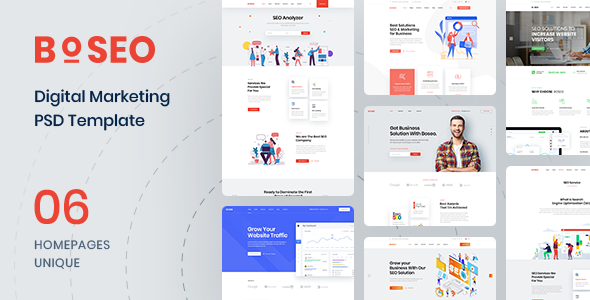 Boseo – SEO & Digital Marketing PSD Template        TFx Boniface Carl