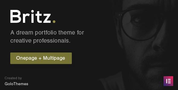 Britz - Onepage and Multipage Portfolio theme        TFx Jools Marvyn