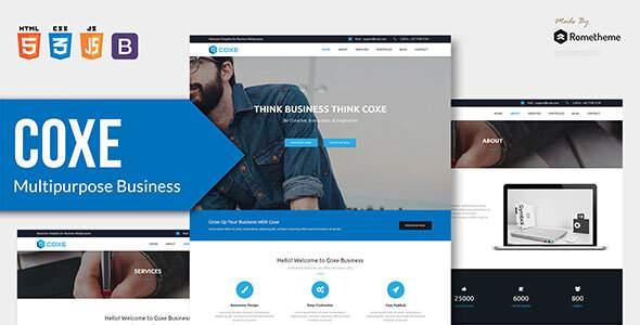 COXE - Corporate Multipurpose HTML Template        TFx Michael Quinn
