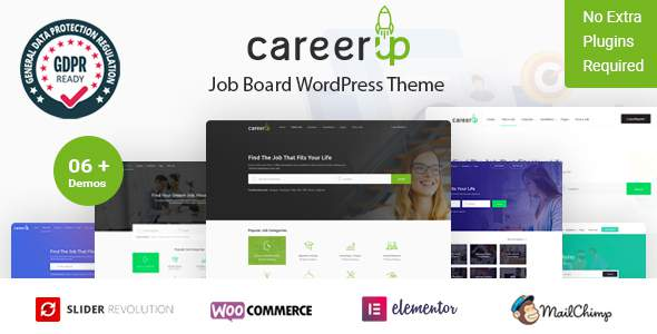 CareerUp – Job Board WordPress Theme        TFx Chile Paul