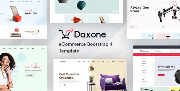 Daxone – eCommerce Bootstrap 4 Template        TFx Kuwat Octavian