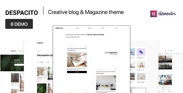Despacito – WordPress Magazine and Blog Theme        TFx Ted Pacey