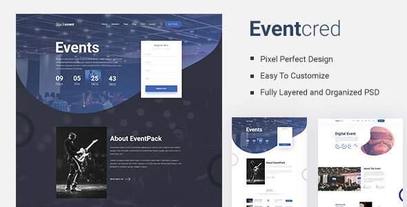 Eventcred - A Creative Event PSD Template        TFx Julius Meade