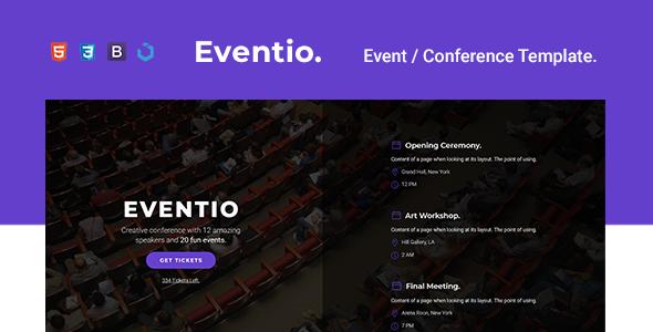 Eventio — Event & Conference Multi-Purpose Template        TFx Jess Raymond