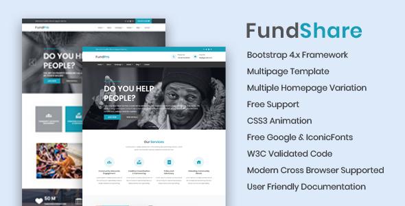 FundShare - Premium HTML Template        TFx Parker Davit