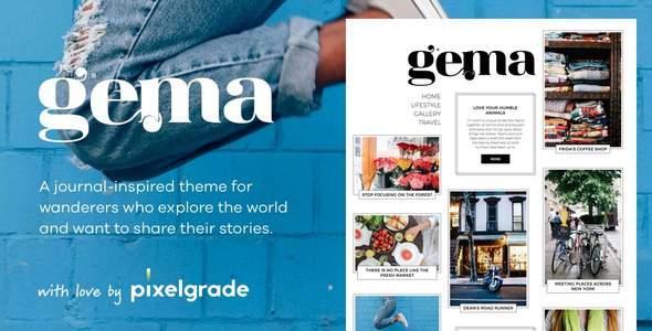 Gema - Journal Inspired WordPress Theme        TFx Riku Virgil