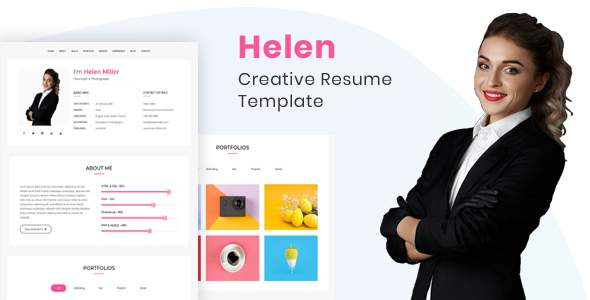 Helen - Creaive Resume Template        TFx Issac Peyton