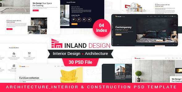 Inland – Interior Design PSD Template        TFx Hildred Skylar
