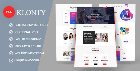 KLONTY | Business PSD Template        TFx Harold Konnor