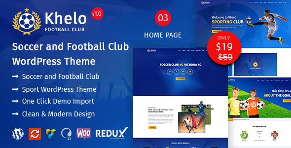 Khelo – Soccer & Football Club WordPress Theme        TFx Brad Morton