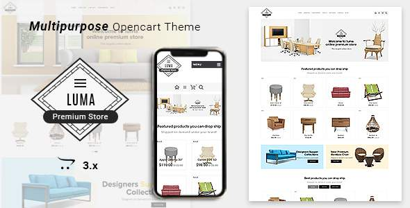 Luma Furniture Responsive Opencart 3 Stores        TFx Jayce Luther