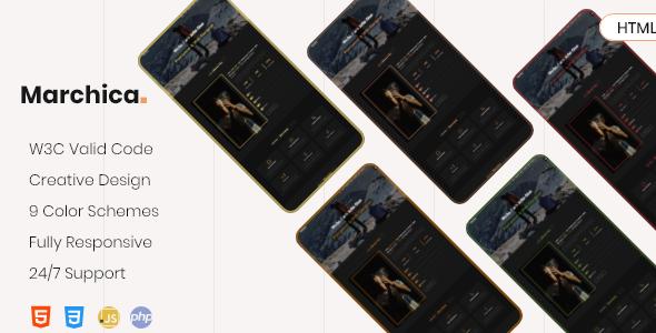 Marchica - Personal Portfolio Template        TFx Finley Byron