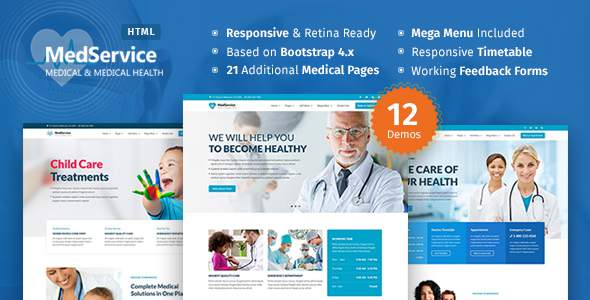 MedServices – Medical Hospital Health Clinic HTML Template        TFx Reid Kenneth
