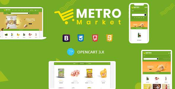 Metro Market – Grocery Store Opencart Theme        TFx Cecil Dell