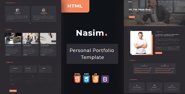 Nasim - Personal Portfolio HTML Template        TFx Alphonsus Jase