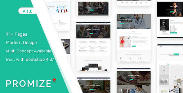Promize - A Responsive Multipurpose Template        TFx Clifford Melvin